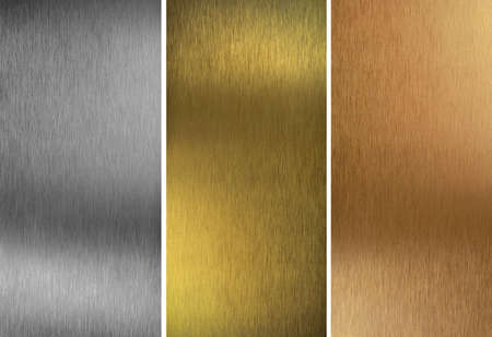 Aluminum, bronze and brass stitched textures photo