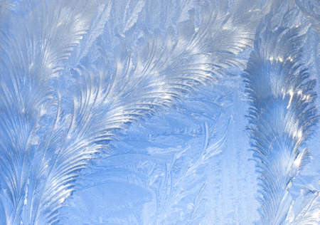 Abstract window frost background photo