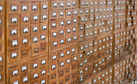 Old wooden card catalogue Stock Photo - 6605999