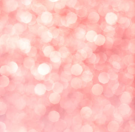 christmas pink: Abstract background of pink glittering lights Stock Photo