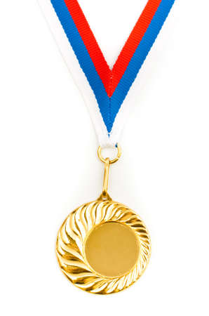 Empty golden medal template for your picture Stock Photo - 6912661