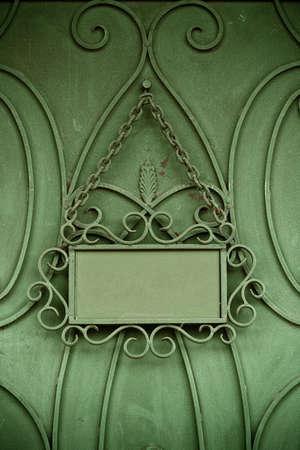 ferreteria: L�mina de metal en puerta con espacio para el texto