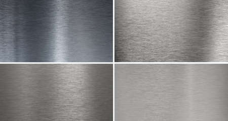 Set of 4 high quality smooth brushed  metal textures Stock Photo - 7526646
