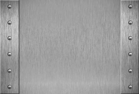 metal plate: Metal plate or armour texture with rivets Stock Photo