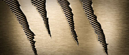 Torn brass metal texture Stock Photo - 7880345