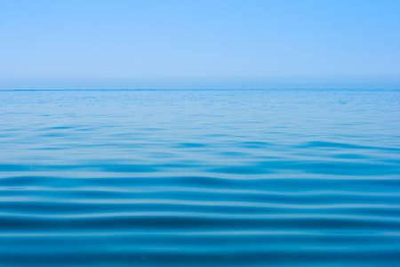 sea line: still calm sea water surface Stock Photo