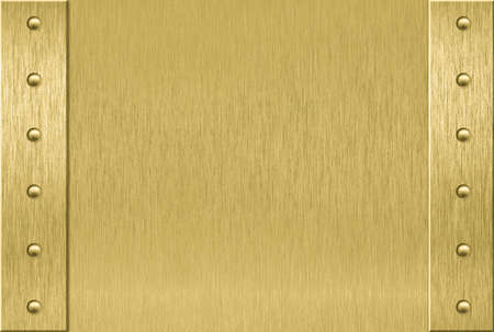 brass plate: Brass texture with light reflected Stock Photo
