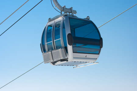 ropeway: Ski lift cable booth or car