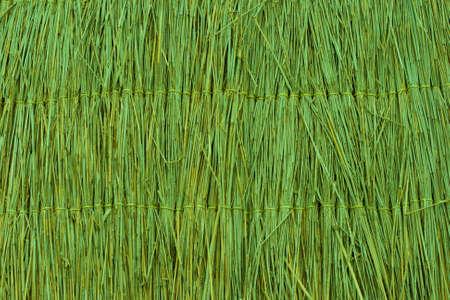 straw mat: Green reed texture wallpaper