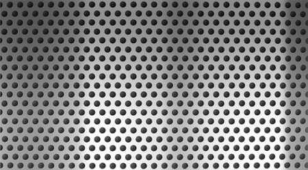 metal holed or perforated grid background Stock Photo - 7880392