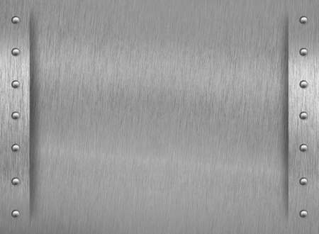 aluminum texture: Aluminum texture with border and rivets Stock Photo