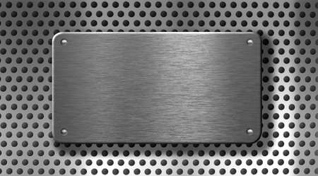 metal plate with rivets industrial background Stock Photo - 7975708