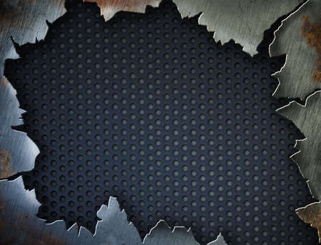 Cracked metal frame or template for your design Stock Photo - 7975716