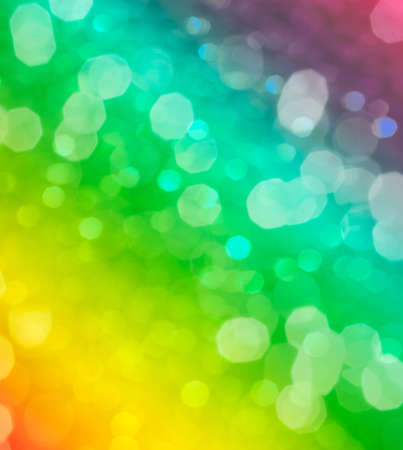 Rainbow blurred abstract background or bokeh photo