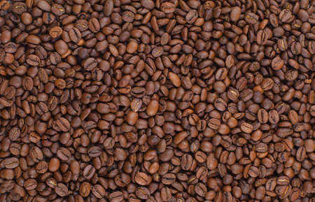coffee crop: roasted coffee beans background Stock Photo