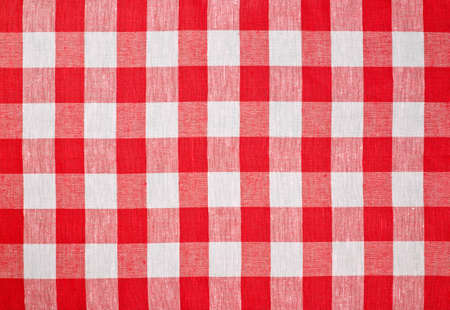 on the tablecloth: red checked fabric tablecloth
