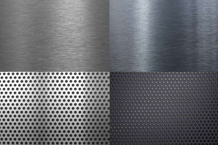 metal textures or backgrounds set Stock Photo - 8260995