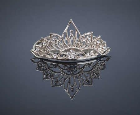 Tiara or diadem with reflection photo