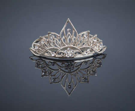 miss: Tiara or diadem with reflection Stock Photo