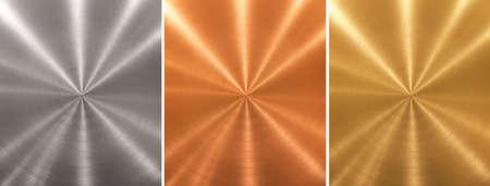 Aluminium Messing Bronze genähte Metallplatten Cone Farbverlauf