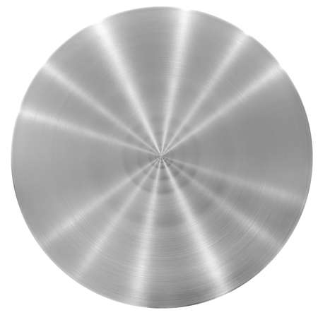 stainless steel: Aluminum round metal plate or disk Stock Photo