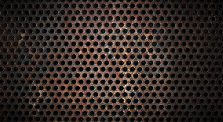 grunge metal grid background photo