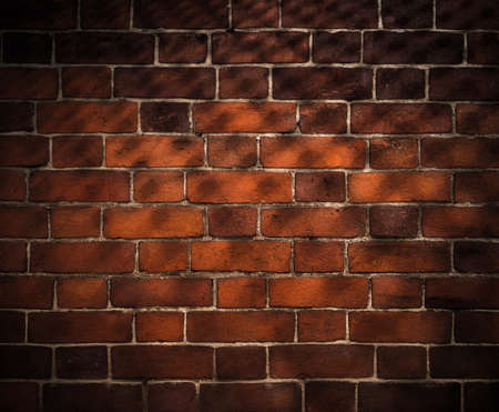 wall textures: old brick wall background with grid shadow