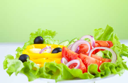 healthy food fresh vegetable salad photo