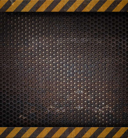 metal template: metal holed or perforated grid background
