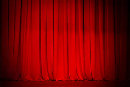 Red curtain background Stock Photo - 9410725