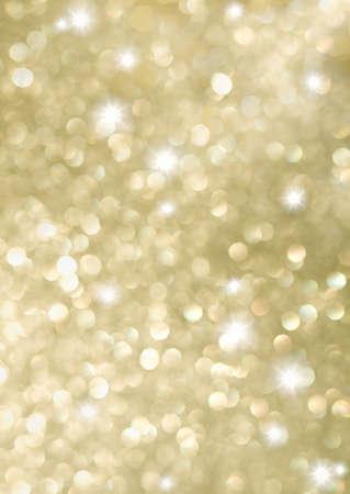 照らす: 黄金の休日ライトの抽象的な背景