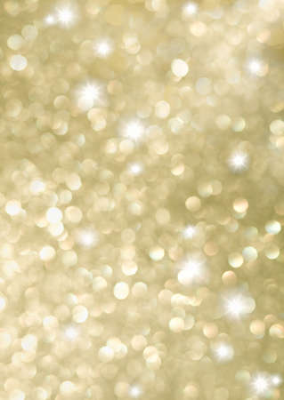 Abstract background of golden holiday lights photo