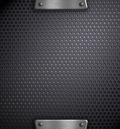 holed: metal holed background template