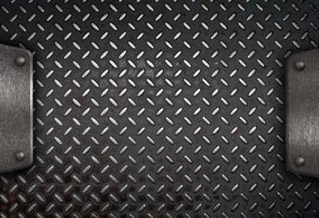 metal grid: grunge diamond metal background