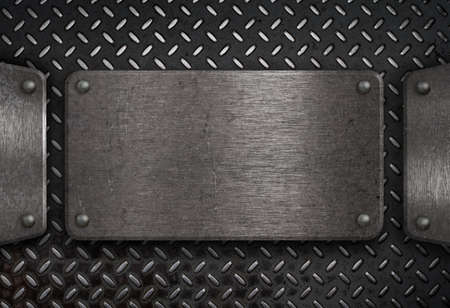 grunge metal plate Stock Photo - 9437708