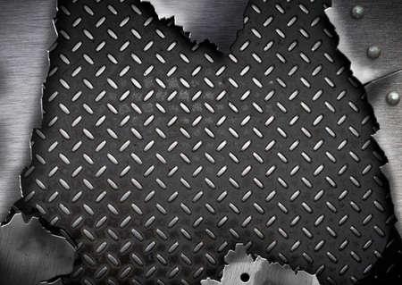 rend: grunge cracked metal plate template