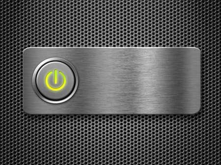 knop: Power toets op