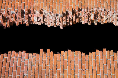 Broken brick wall with copyspace for your text photo