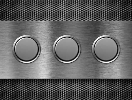three buttons toolbar Stock Photo - 9604165