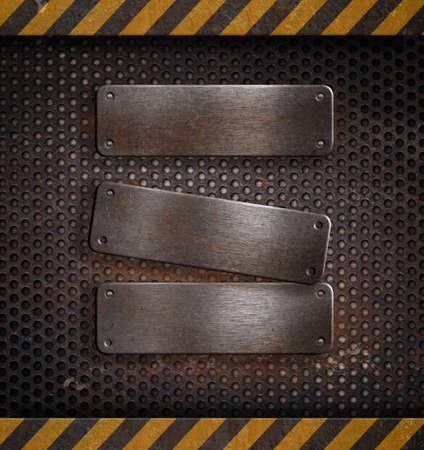 placa bacteriana: plantilla de metal