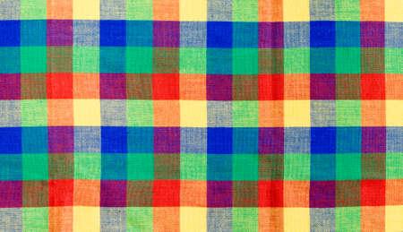 Multicolor checked tablecloth photo
