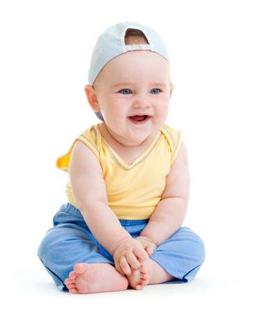 Little smiling boy isolated studio shot Stock Photo - 9766698