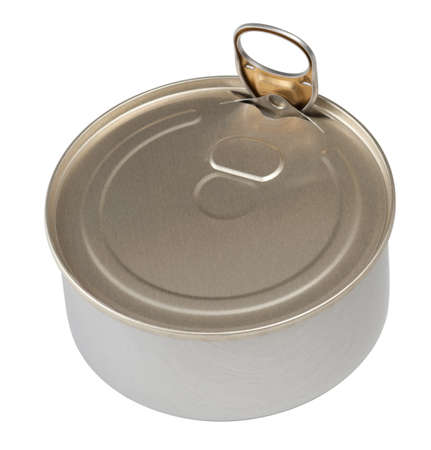 Food tin can isolated photo
