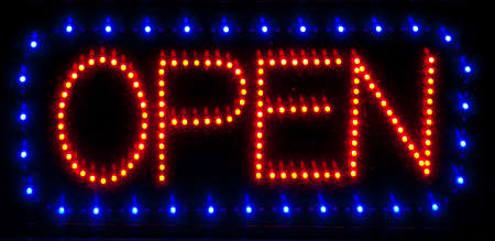 LED open sign photo