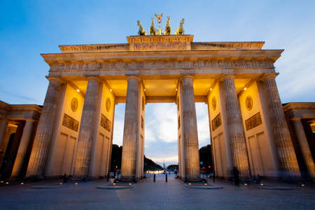 brandenburg: Brandenburg Gate (Brandenburger Tor) in Berlin night shot