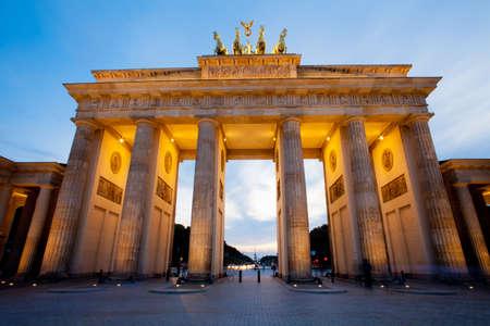 Brandenburg Gate (Brandenburger Tor) in Berlin night shot
