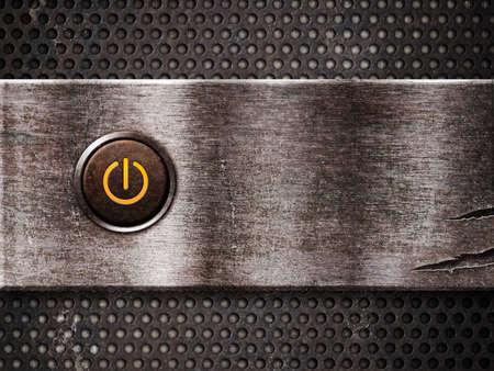 powerbutton: bot�n de encendido oxidado