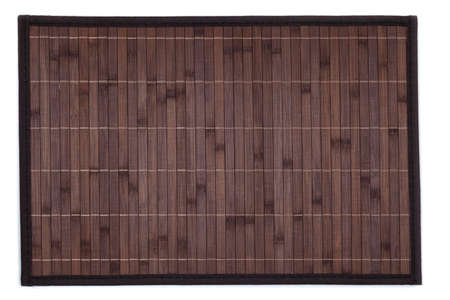 placemat: Bamboo placemat isolated on white