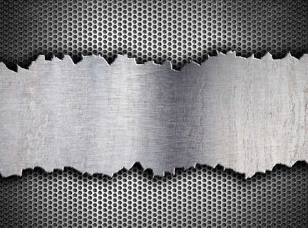 metal grate: grunge crack metal background tempalte Stock Photo