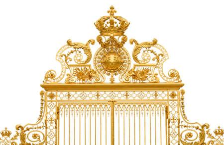 Geïsoleerde golden gate fragment van Versailles koning